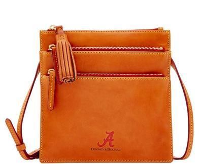 Alabama Dooney & Bourke Triple Zip Crossbody Bag