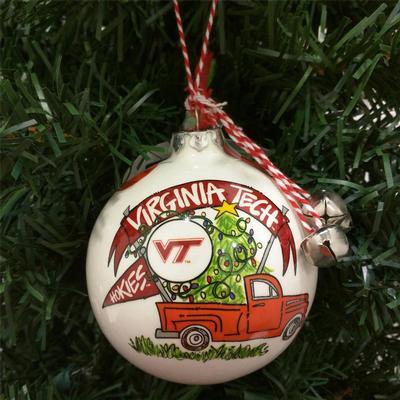 Virginia Tech Magnolia Lane Truck Ornament