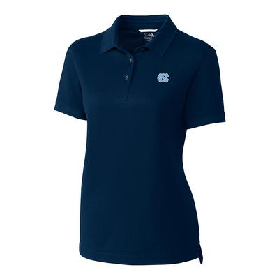 UNC Cutter And Buck Women's Advantage DryTec Polo LIBERTY_NAVY