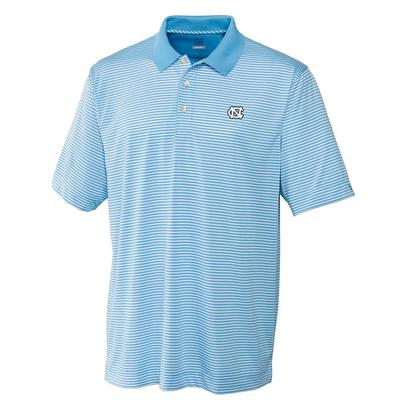UNC Cutter And Buck DryTec Trevor Stripe Polo