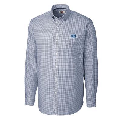 UNC Cutter And Buck Tattersall Woven Dress Shirt