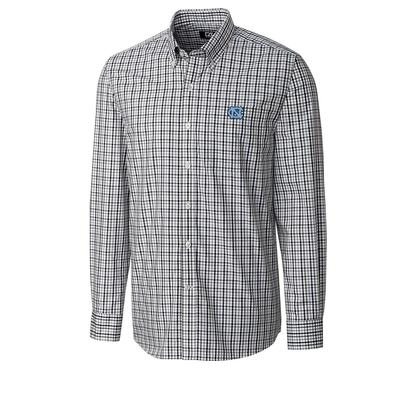 UNC Cutter And Buck Gilman Plaid Woven