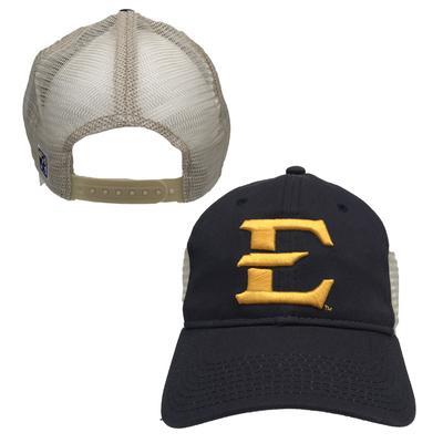 ETSU Unstructured Logo Trucker Hat