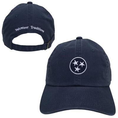State of Tennessee Navy and White Volunteer Traditions Tristar Cap