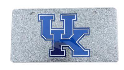 Kentucky Silver Flitter Logo Plate