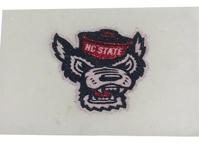 NC State Glitter Wolfie Facecal