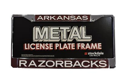 Arkansas Glitter License Plate Frame