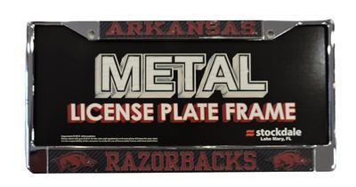 Arkansas Carbon Fiber License Plate Frame