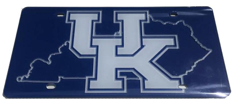 Kentucky Uk Logo State Outline License Plate