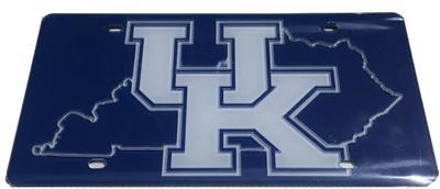Kentucky UK Logo State Outline License Plate
