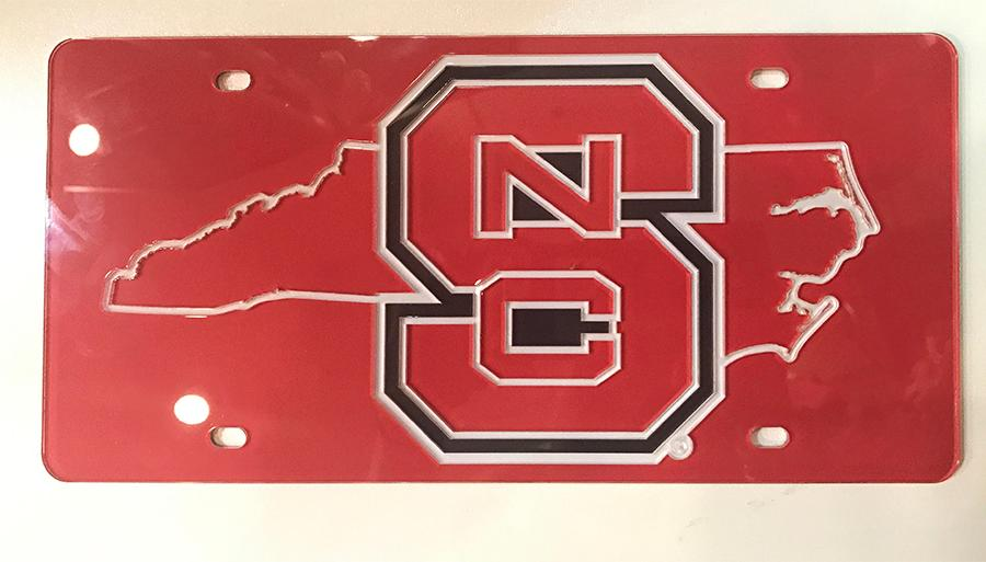 Nc State State Outline License Plate