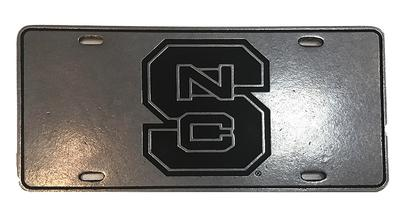 NC State Interlocking Logo License Plate