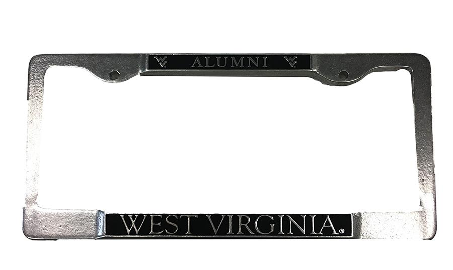 Wvu West Virginia Alumni License Plate Frame Alumni Hall