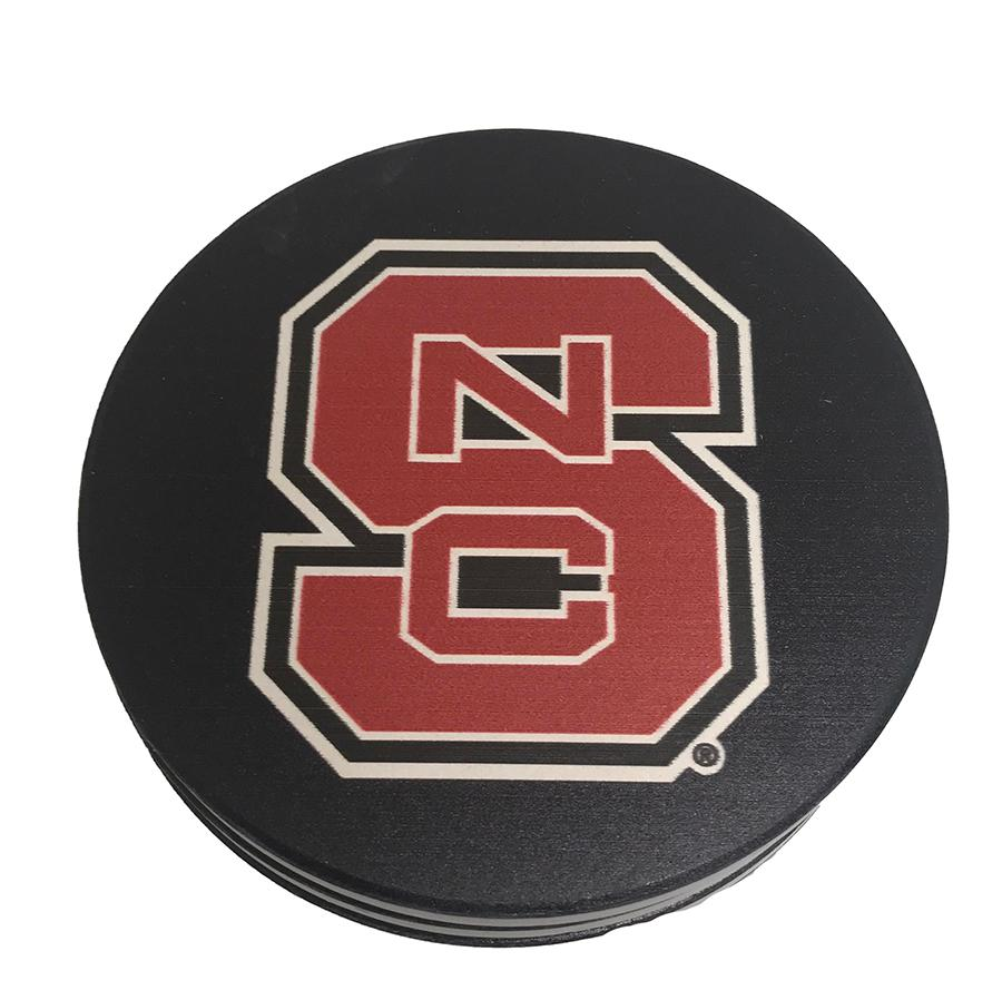 Nc State Interlocking Logo Coasters