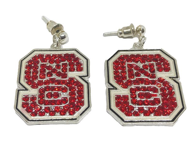 Nc State Jewelry Rhinestone Vt Earrings