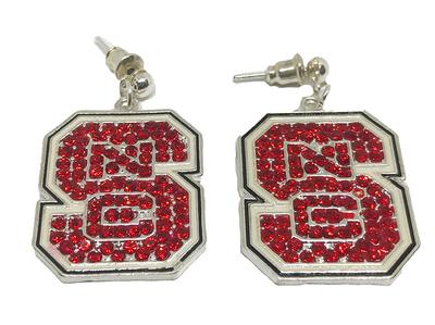NC State Jewelry Rhinestone VT Earrings