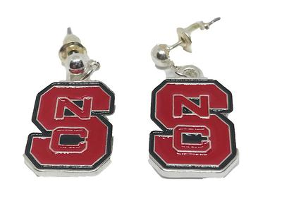 NC State Enamel Logo Earrings