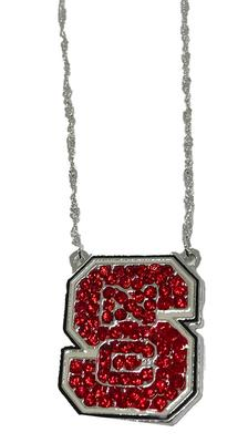 NC State Rhinestone Spartan Necklace