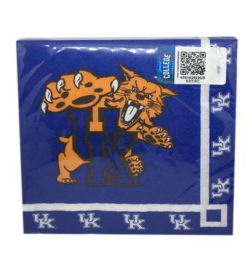 Kentucky Wildcat Logo Beverage Napkins (20pk)