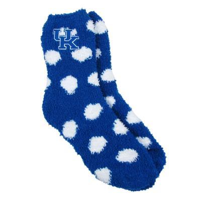 Kentucky Zoozatz Fuzzy Dot Socks