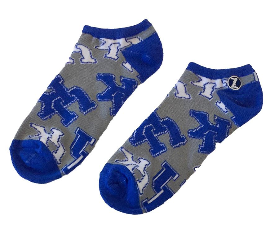 Kentucky Stacked Logo Low Cut Socks