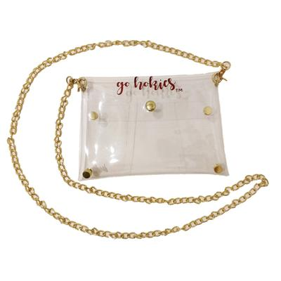Virginia Tech Clear Bag W/ Gold Chain