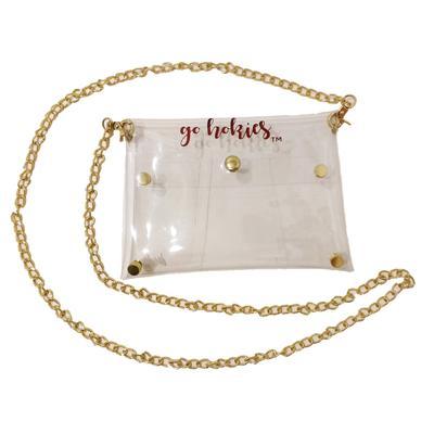 Virginia Tech Clear Bag W/ Gold Chain
