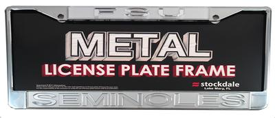Florida State Frosted Logo License Plate Frame