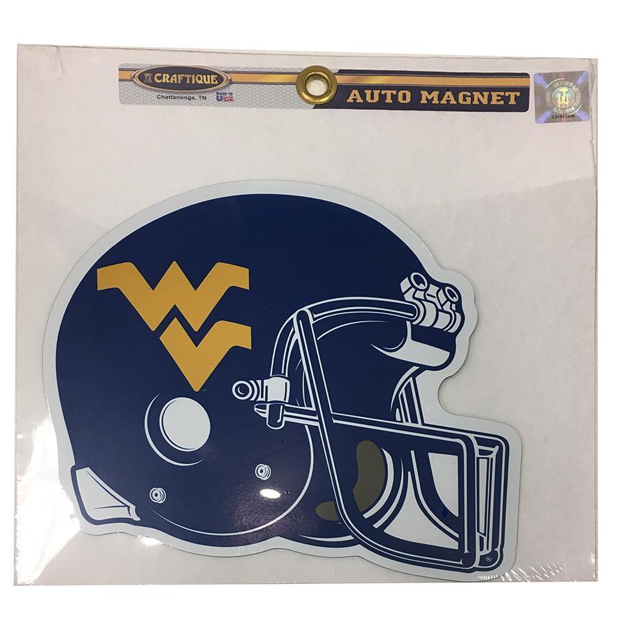 West Virginia Helmet Magnet 7.5