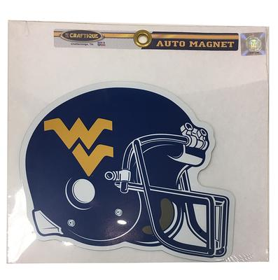 West Virginia Helmet Magnet 7.5