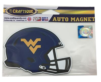 West Virginia Helmet Magnet 3.8