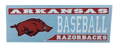 Arkansas Decal Baseball Block