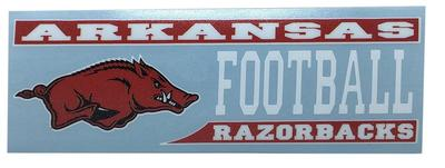 Arkansas Decal Football Block