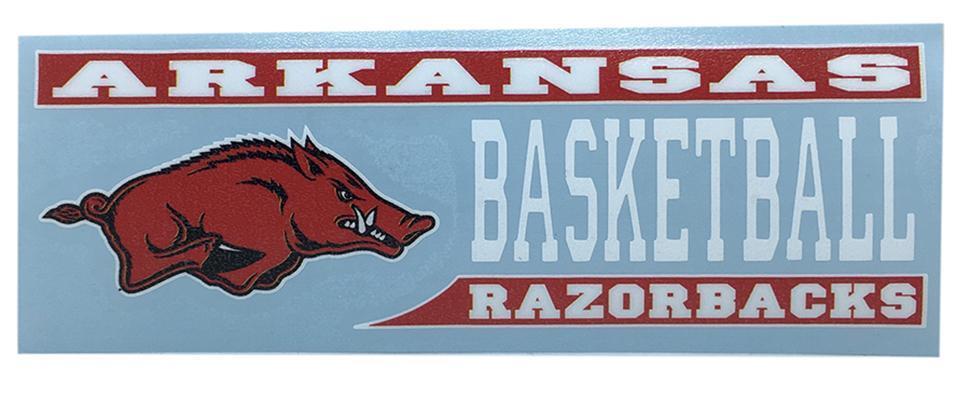 Arkansas Decal Basketball Block