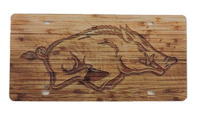 Arkansas Wood Grain License Plate