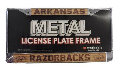 Arkansas Wood Grain License Plate Frame