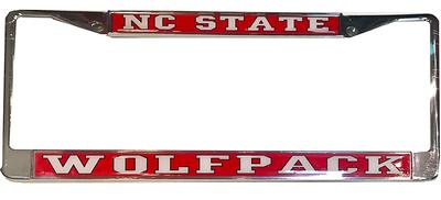 NC State Domed License Plate Frame