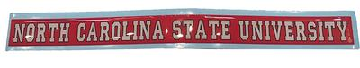 NC State University Strip Decal