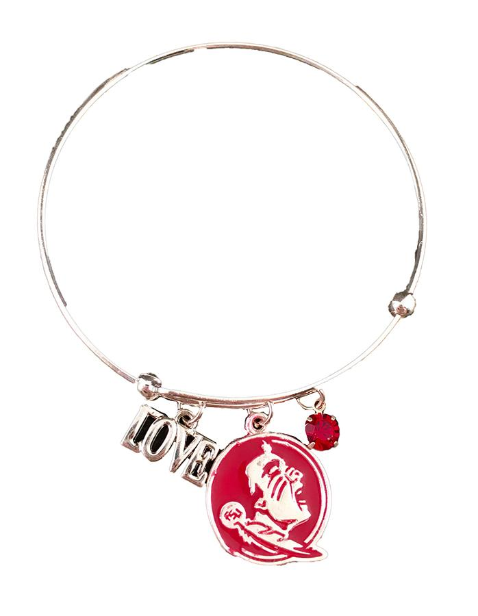 Florida State Love Charm Coil Bracelet