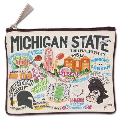 Michigan State Woven Pouch