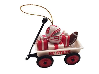 NC State Team Gift Wagon Ornament