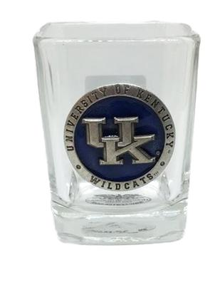 Kentucky Square Shot Glass (Blue Emblem)