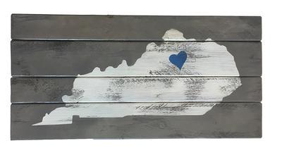 State of Kentucky Heart Wall Art