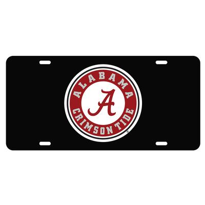 Alabama License Plate Black/Red Circle Logo