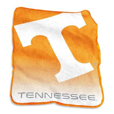 Tennessee Logo Brands Raschel Throw Blanket