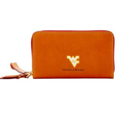 West Virginia Dooney & Bourke Zip Around Phone Wristlet