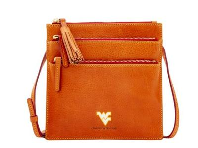West Virginia Dooney & Bourke Triple Zip Crossbody Bag