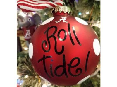 Alabama Crimson Tide Glitter Dot Ornament
