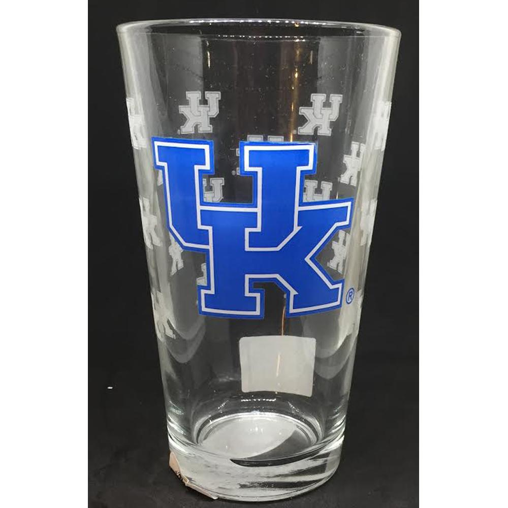 Kentucky 16oz Satin Etch Pint Glass