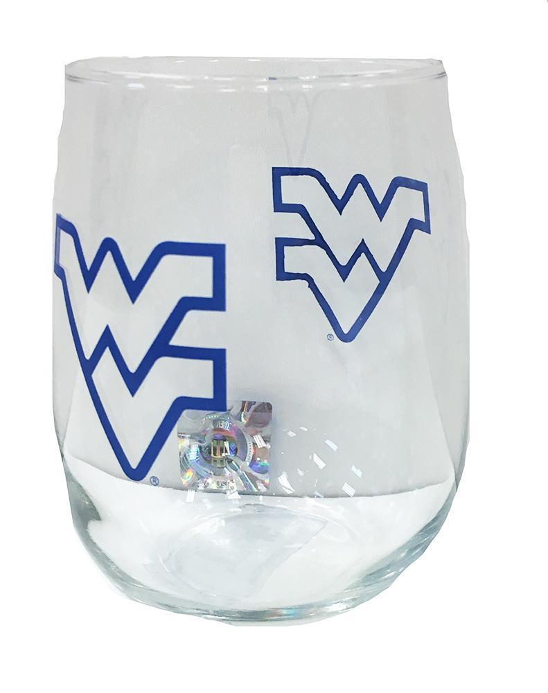 West Virginia 16 Oz.Stemless Wine Glass